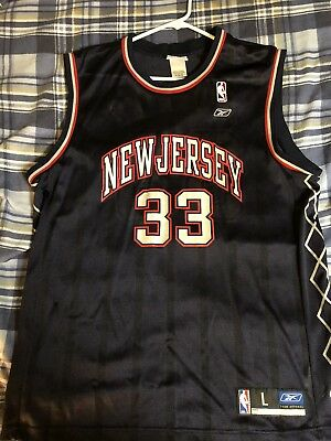 innovative design a6fa3 d682c AUTHENTIC NEW JERSEY Nets Alonzo Mourning Jersey Reebok Size Large