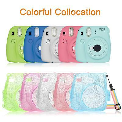 For Fujifilm Instax Mini 8 Mini 8+ Mini 9 Camera Case Crystal Hard PVC Cover