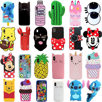 separation shoes a3683 de5b8 FOR IPHONE KIDS Disney Soft 3D Silicone Protective Back Mobile Phone Case  Cover