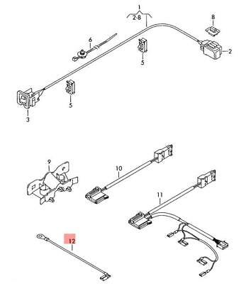 Genuine Vw Adapter Wiring Harness For Airbag 7h0971584f