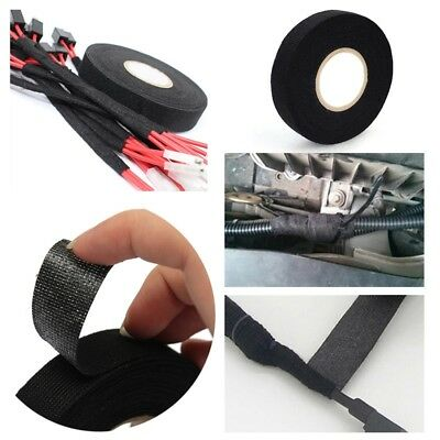 15M 19MM Black Titanium Heat Wrap Exhaust Manifold Black Insulating Tape 1 Roll