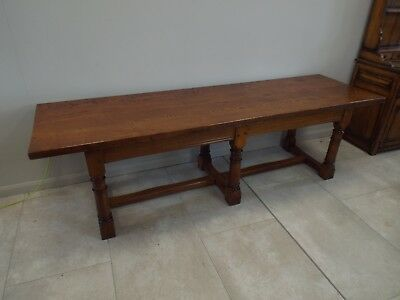 Large 8.5ft Solid Oak Antique Style Oak Refectory Dining Table