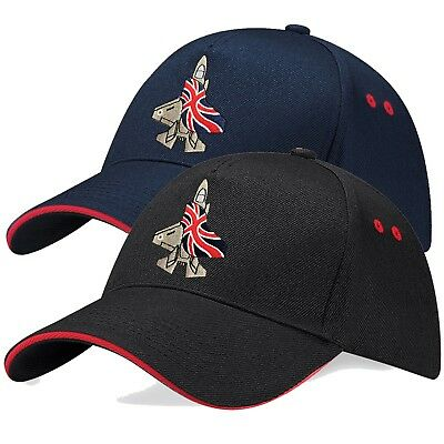 F-35 Fighter Union Jack Flag Flying Embroidered Aircraft Contrast Pilots Cap F35