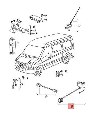 Genuine Vw Crafter Wiring Harness For Brake Pad Wear 2e0971173