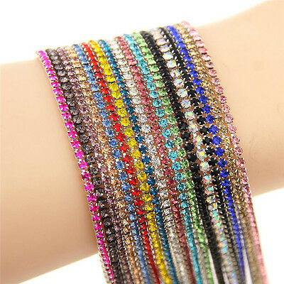 1YD Claw Chain Cystal Rhinestone Close Cup Chain Trimming Jewelry Crafts