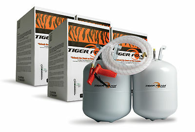 2 Tiger Foam 600bd/ft Closed Cell E-84 Spray Foam Insulation Kits- FREE SHIPPING