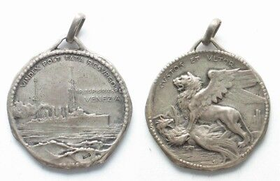 Italy Scout cruiser VENEZIA (ex. SMS SAIDA) Medal 1920 silver 25mm # 19784