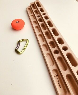 Training Board, Wooden fingerboard, grips, Hangboard, Climbing holds
