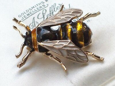 Vintage Retro Style Jewellery Fabulous Enamel Bumble Bee Insect Bug Brooch/pin