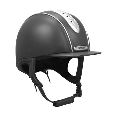"""Champion EVOLUTION PEARL Ventilated Peaked Riding Hat Black/Navy 6 1/4""""-7 3/4"""""""