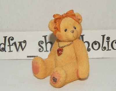 1996 Cherished Teddies 239860 Little Sparkles NOVEMBER Topaz Birthstone Bear EUC