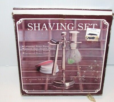 Vintage Brass Shaving Set