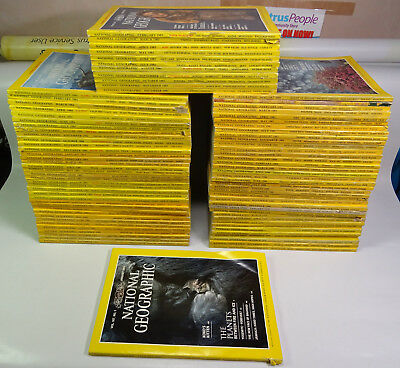 Complete 1979 to 1985 National Geographic Magazines : project collage