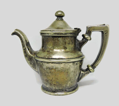 Antique 1/2 Pint Silver Soldered Creamer From Fort Pitt Hotel