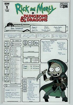 Rick and Morty vs Dungeons & Dragons 1 and 2 variant cover B Oni Press IDW