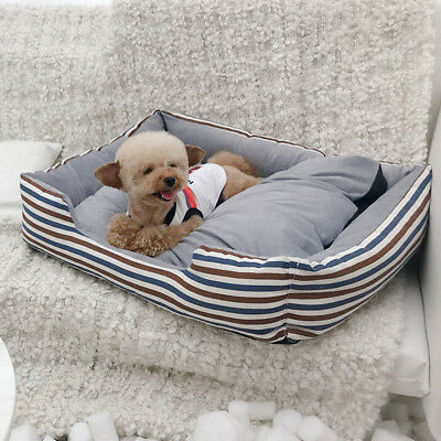 Pet Dog Cat Nest Bed Kennel Mat Pad Large Cushion Warm Soft Durable Indoor