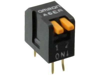 A6ER-2104 Switch DIP-SWITCH Poles number2 ON-OFF 0.025A/24VDC 100MΩ OMRON