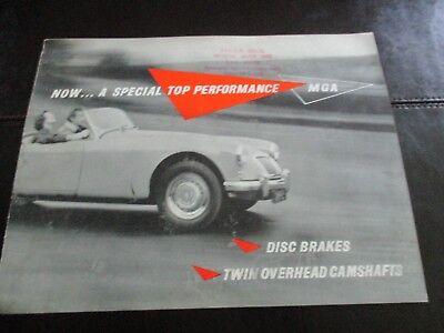 1958 Mga Brochure - Printed In England - Safety Fast - Excellent Condition