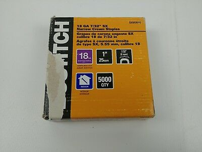 BOSTITCH SX50351G 1-by-7/32-Inch 18-Gauge Narrow Crown Finish - 5000 Staples