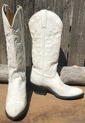 acbb5fefadd WOMENS WHITE LEATHER western wear wedding cowboy boots rhinestones ...