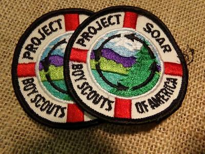 "Boy Scouts of America 3"" Round Patches Lot of 2 Brand New 1971 Vintage"