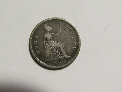 Great Britain 1838 4 Pence silver Coin