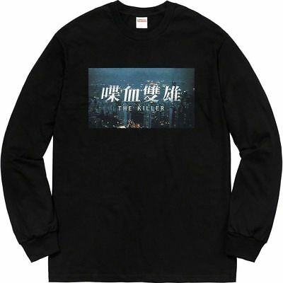 bfd6c0d0012a BRAND NEW Supreme The Killer L/S Tee Size L Black long sleeve shirt FW18