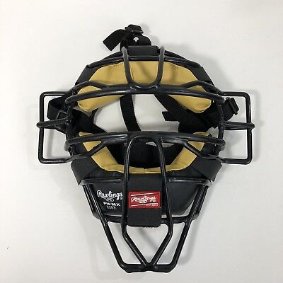 Rawlings PWMX ESBE High Visibility Baseball Catcher Umpire Mask Black Wire Adult