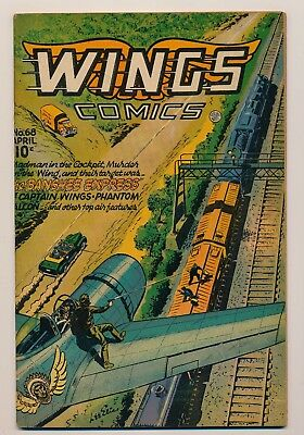 Wings Comics (1940) #68 FN+ and #69 FN Clipper Kirk becomes the Phantom Falcon