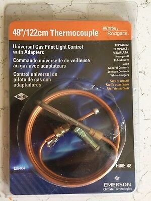 """Qty (6)  Thermocouple 48""""/122cm Universal Gas Pilot Light Control With Adapters"""