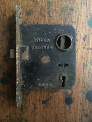 Vintage Niles Chicago Door Mortise Lock untested