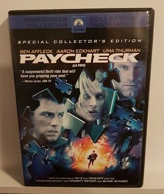 Paycheck (DVD, 2004, Widescreen) Special Collectors Edition! FAST SHIPPING!