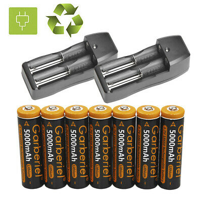 5000mAh Rechargeable 18650 Battery 3.7V Li-ion Batteries Cell Bat Dual Charger