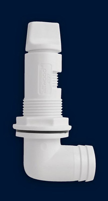 Aerator Spray Head, 90 Degree Boat Live well Fitting, Attwood 4125-1