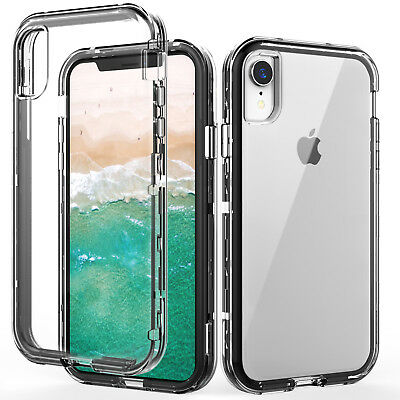 Shockproof Three Layer Protection Hard Plastic & Soft Case For iPhone Xr/Xs Max