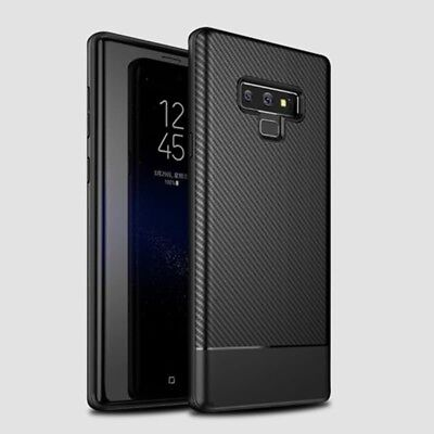 For Samsung Galaxy Note 9 S9 Plus S8 Carbon Fiber Shockproof TPU Case Back Cover