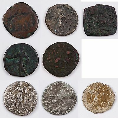 Ancient & Midieval India Lot of 16 coins 5 Bronze 11 Silver 3rd Cent BC ... L125