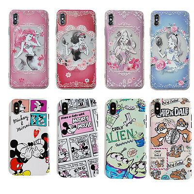 Princess Mickey Minnie Soft Silicone TPU Phone Case Cover For iPhone Xs Max 6 7