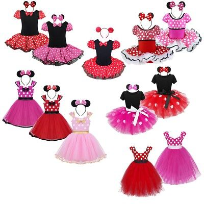 Toddler Kids Girls Baby Christmas Halloween Costume Party Tutu Dress+Headband