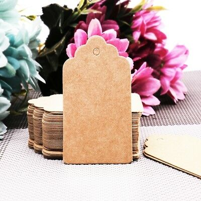 100pcs Kraft Paper Tags Christmas Wedding Favors Party Gifts Paper Card Labels