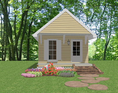 Custom Tiny House Home Building Plans 1 bed Cottage 390 sf---PDF FULL PERMIT SET