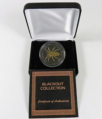 2015 FUNNEL WEB SPIDER BLACK OUT Silver Proof Coin