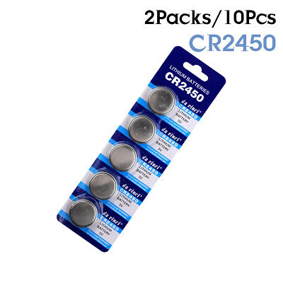 10Pcs 3V Coin Battery CR2450 DL2450 BR2450 LM2450 For Main Board calculator 35C