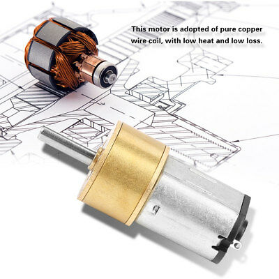 6//12V 300//600//30RPM Mini DC Metal Gear Motor with Gearwheel Shaft Diameter N20