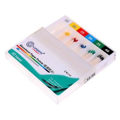 200pcs Dental Material Absorbent Paper Points Dentist Products 0.02 Taper UQ