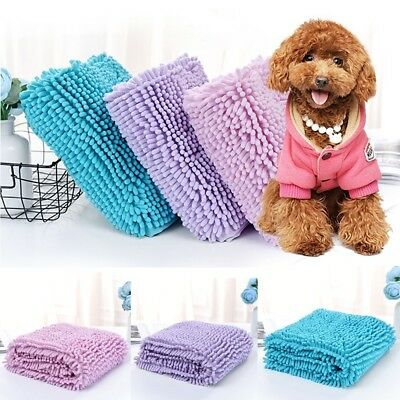 1x LARGE PETE Fiber Chenille Absorbent DRYING TOWEL DOG / CAT WASHING BATH