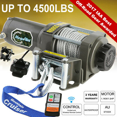 12V Wireless 3000LBS / 1361KGS Electric Winch Synthetic Rope ATV 4WD BOAT 4500LB