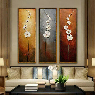 3 Pcs Flower Canvas Abstract Painting Print Art Wall Home Decor Unframed Chic