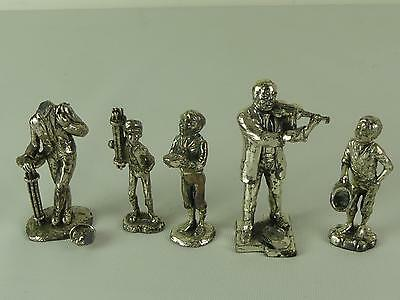 (ref165DA) Superb Silver Plated Victorian Figures Characters