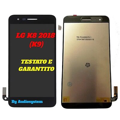 P1 DISPLAY LCD SCHERMO+ TOUCH SCREEN per LG K9 (K8 2018) LMX210NMW NERO VETRO